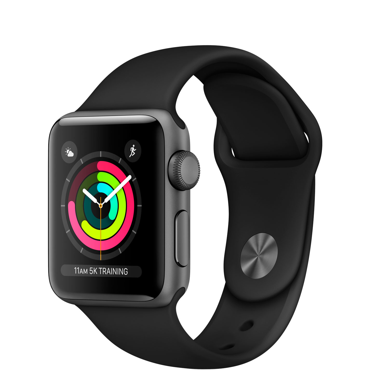 Apple Watch Series 3, 38mm (серый космос)